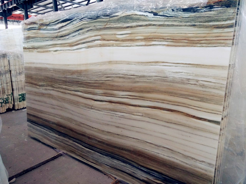 Black Granite Slabs Product : Zebra white chinese marble slabs china