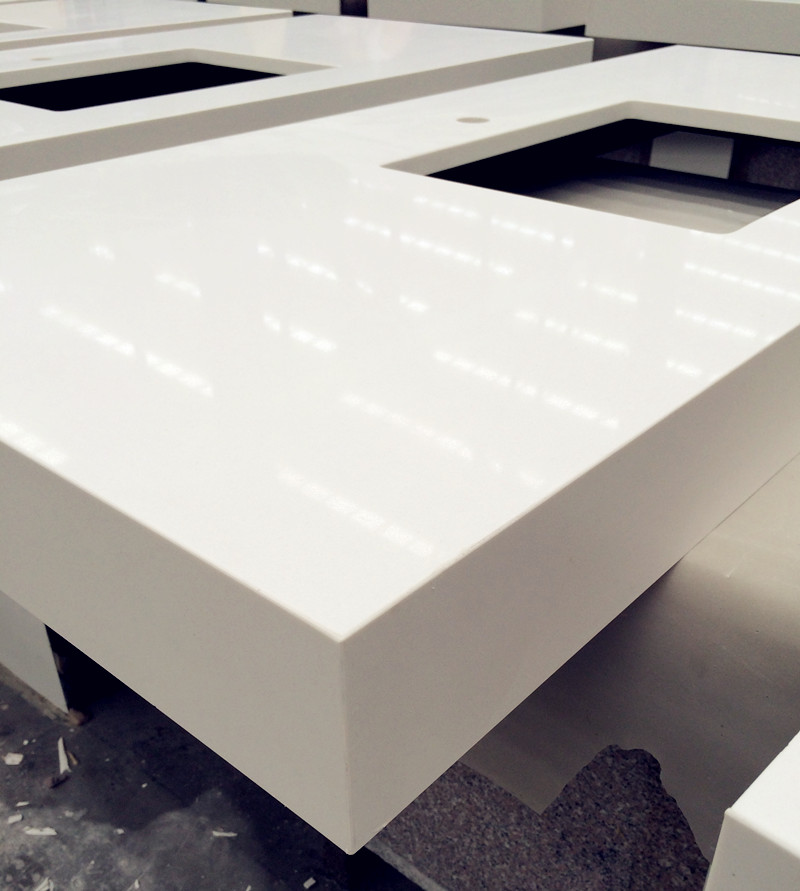 White Engineered Quartz Countertops