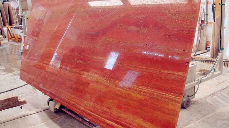 Red Travertine Slabs China