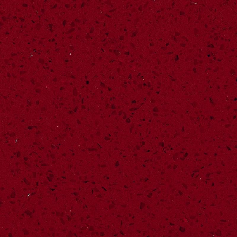 Gentil GQ801   Crystal Red Quartz Slabs, Quartz Countertops China