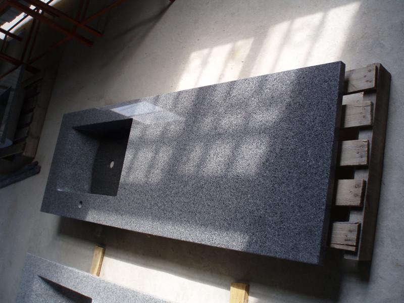 G654 China Impala Black Granite Countertops | Granite Vanity Tops China |  Global Stone