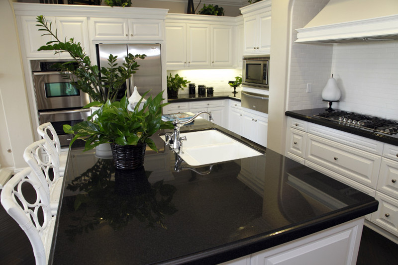 pure black quartz kitchen countertops pure black quartz