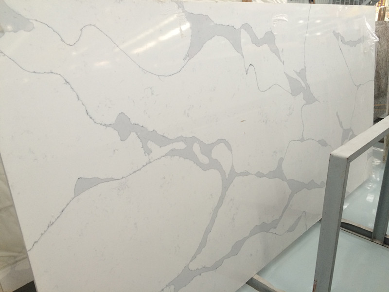 Gq100 calacatta white quartz slabs quartz countertops for Quartz countertop slab dimensions