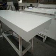 Laminated White Quartz Countertops for Hotel Glenview | Quartz Countertops | Global Stone