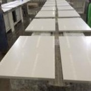 White Quartz Nightstand Tops for Hilton Garden Inn| Quartz Countertops | Global Stone